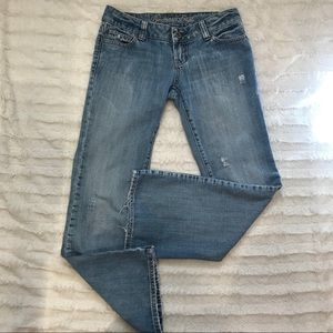 AMERICAN EAGLE Distressed Light Wash Jeans 2
